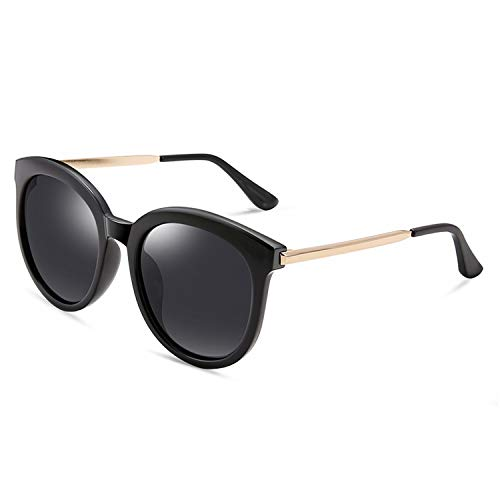 Polarized Women Sunglasses Handicraft Classic Retro Floral Plastic Titanium Frame Shield Anti UV400 New ()