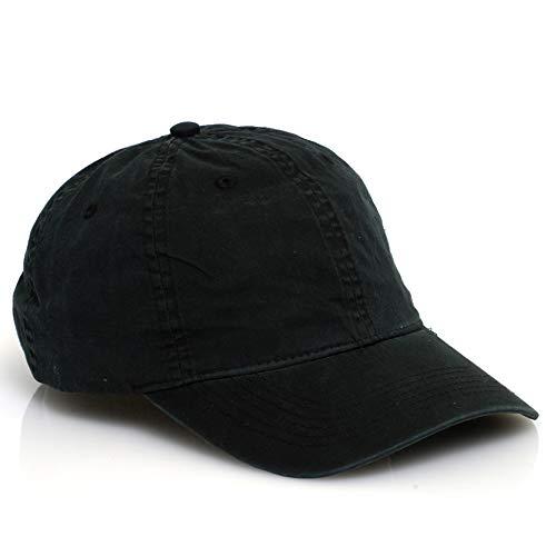 Pacific Headwear - V57 | Vintage Cotton Buckle Back Hat (6 Pack) Black