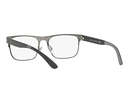 ... Polo Ralph Lauren - Montures de lunettes - Homme Argenté abgebürstet  gun metall - matt schwarz 144267b6e2e5
