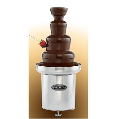 Nostalgia Chocolate Fondue Fountain (Nostalgia CFF552 4-Tier 6-Pound Capacity Stainless Steel Commercial Chocolate Fondue Fountain)