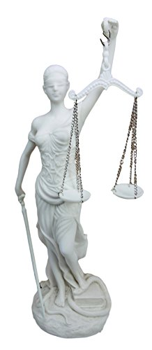 (Ebros Greek Goddess La Justica Statue Blind Lady of Justice Holding Sword of Judgement and Scales Decorative Figurine 10