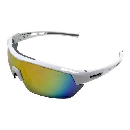 36e85440cf8 Rawlings Men s Athletic Sunglasses 34 White Orange Mirrored Lens ...