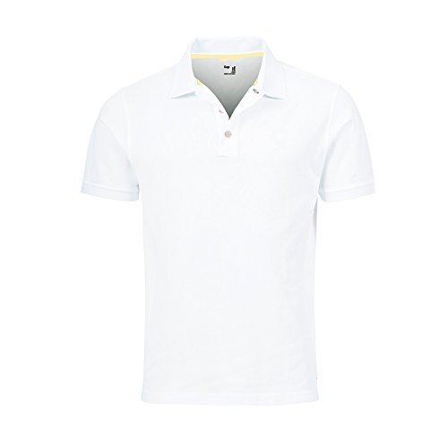 GAP Men's Solid Colors Custom Fit Polo Mesh Shirt (White, XX-Large)