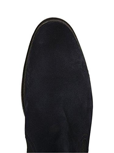 Floris van Bommel Herren Chelsea Boots in Blauem Veloursleder 00 ocean suede