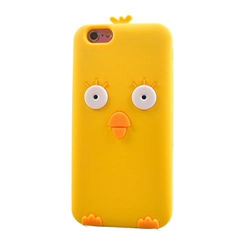 COOLKE Moda 3D Lovely Cartoon Suave Silicona Funda Carcasa Tapa Case Cover para Apple iPhone 6 6s (4.7) - 020 020