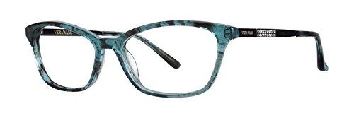 Vera Wang SESHET Eyeglasses 52 Teal Horn