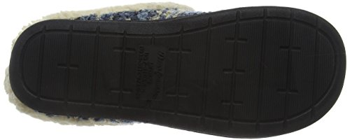 Dearfoams Damen Space-Dye Boucle Clog with Memory Foam Hausschuhe Blue (Blue 00400)