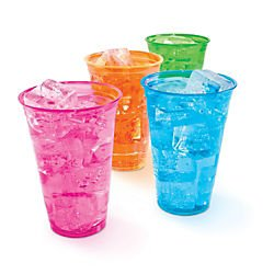Office Depot Plastic Cups, 16 Oz., Assorted Colors, Pack Of 100, 11591