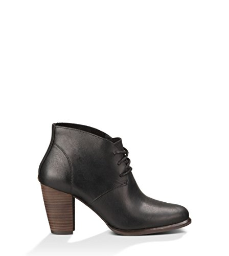 UGG Australia Women's Mackie Black Leather Boot 6 M US