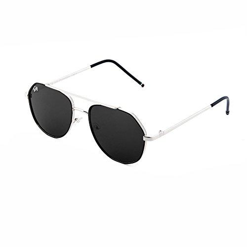 mujer TWIG espejo de sol Gafas hombre Negro Plata aviador TOLSTOJ 0w67FHqE