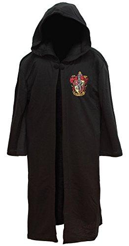 Harry Potter Big Boys' Harry Potter 'Hogwarts House Crest Magic Wizard Cloak' Costume Robe, Black, L