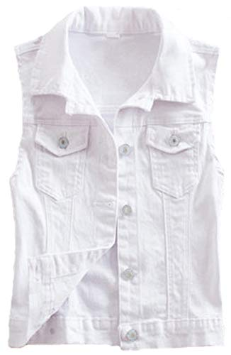 2015 New Short Type Sleeveless Denim Jacket Hole Jeans Vests (Small, ()