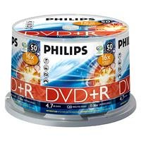 Philips DR 4 S 6 B 50 F/00 DVD+R Rohlinge (4.7 GB Data/120 min. Video, 16x High-Speed-Aufnahme, 50-spindle)