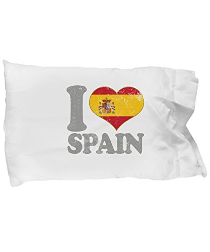 Spain Standard Pillowcase - Patriotic Spanish Flag Pride Madrid Barcelona Pillow Case Novelty Holiday Christmas Gift. by Novelty & Gag Gifts