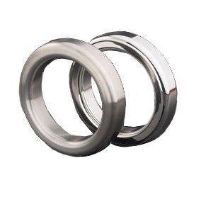 Master Series Metal Cock Ring: 2'', Brushed Finish