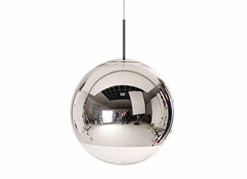 Silver Ball Pendant Light in US - 7
