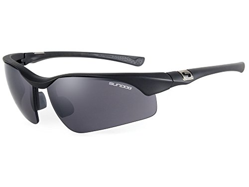 Sundog True Blue Flight Sunglasses, Matte Black with - Sunglasses Sundog