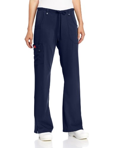 Dickies Women's Xtreme Stretch Fit Drawstring Flare Leg Pant, Navy, X-Large