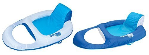 Lounge Pool Recliner - SwimWays Spring Float Recliner Floating Pool Lounge Chair (2 Pack) | 13018
