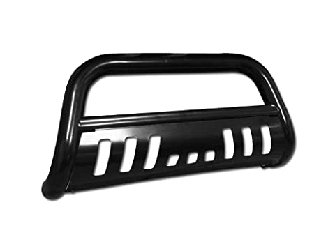 BLK HD BULL BAR BRUSH PUSH BUMPER GRILL GRILLE GUARD 99-06 SILVERADO/SIERRA 1500 (06 Silverado Push Bar)