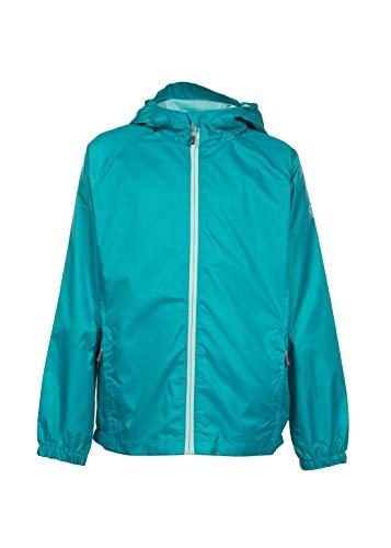 Swiss Alps Girls Wind Resistant Lightweight Rain Jacket, Cove Teal, 10/12]()