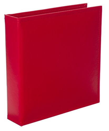Becky Higgins Cherry Faux Leather Album for Scrapbooking, 6 by (Cherry Faux Leather)