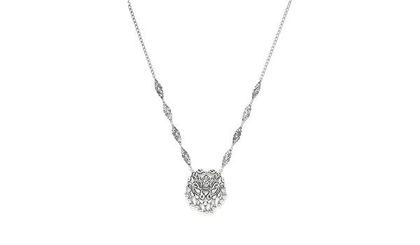 zerokaata/Fashion Jewellery Oxidized Silver Charm Bracelet with Designer Leaves for Women /& Girls