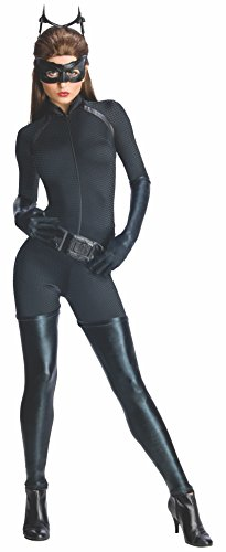 Dark Costume The Knight Rises Batman Catwoman (Secret Wishes Dark Knight Rises Adult Catwoman Costume, Black,)
