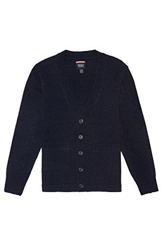 Uniform Cardigan Sweater School (French Toast Little Boys' V-Neck Anti-Pill Cardigan, Navy, Small/6-7)