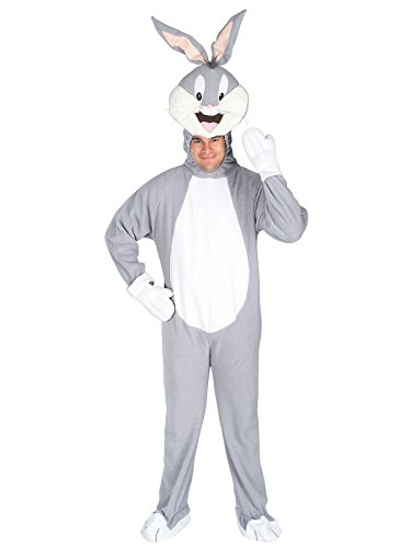 Rubie's Men's Looney Tunes Bugs Bunny Adult Costume, Multicolor, Standard -