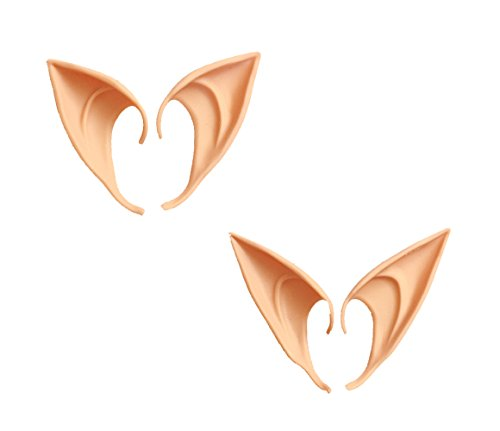2 Pair Halloween Party Elf Ears Anime Fairy Cosplay Accessories Cosplay Costumes in 2 Size(L and M)