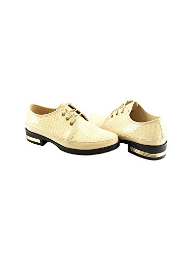 Skin Oxford Lace Adult 6 Closure Beige Snake up Women 11 Shoes Pattern Liyu qtwnZaWgZ