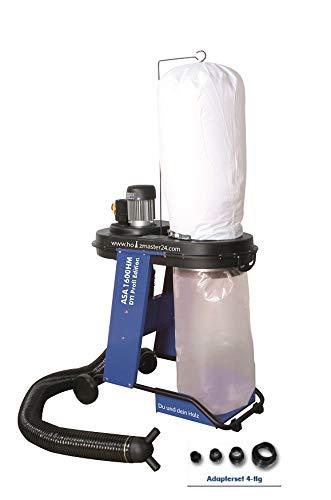 Zipper Absauganlage ASA1600HM mit Schlauch Adapterset-4tlg Filtersack Sp/änesack
