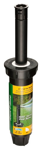 (Rain Bird 1804Q Professional Pop-Up Sprinkler, 90° Quarter Circle Pattern, 8' - 15' Spray Distance, 4