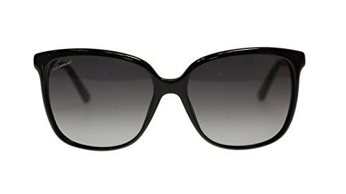 Gucci Women's Sunglasses GG3696 AM3 Black/Grey Gradient Lens Oval 57mm - Gucci Wayfarer