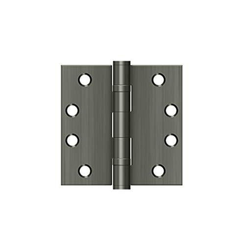 Deltana S44HDBB26 HD Ball Bearings Steel 4-Inch x 4-Inch Square Hinge