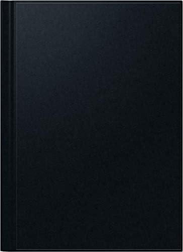 BRUNNEN 1078160 Buchkalender Modell 781 (2 Seiten = 1 Woche, 21 x 29,7 cm, Balacron-Einband, Kalendarium 2020) schwarz