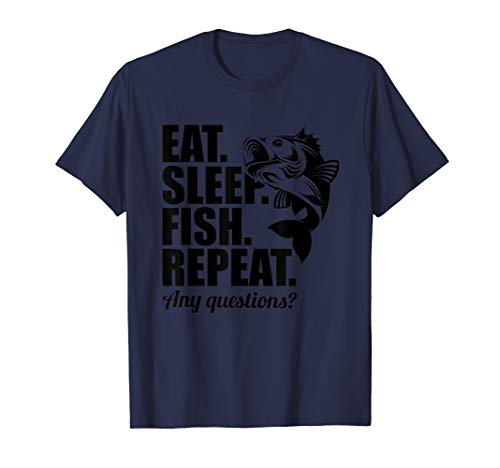 Eat Sleep Fish Repeat Funny T-Shirt Cool Fisherman Fish Gift