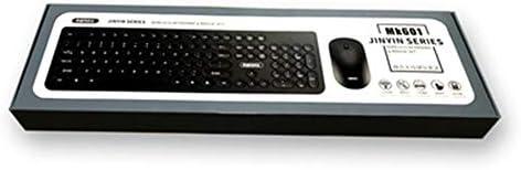 NQI Ensemble clavier et souris sans fil Noir Clavier Ordinateur Gaming sans fil Design ultra-mince Clavier léger