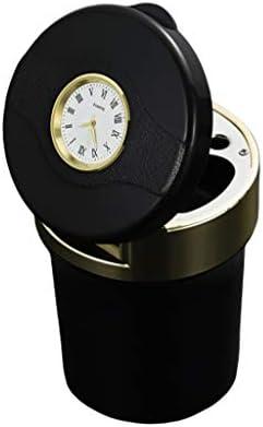 オートアクセサリー多機能ウォッチ灰皿メタルLED車の灰皿ステンレス鋼の灰皿 (Color : Gold)