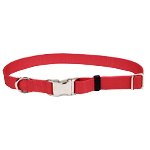 Coastal Pet 61901 A RED26 Adjustable Dog Collar, 1-Inch, Red