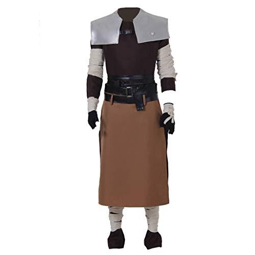 CosplayDiy Men's Suit for Starkiller Halloween Cosplay Costume Outfits XXL Brown