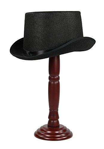 Super Big Faux Wool Top Hat Black (XL (63 ()