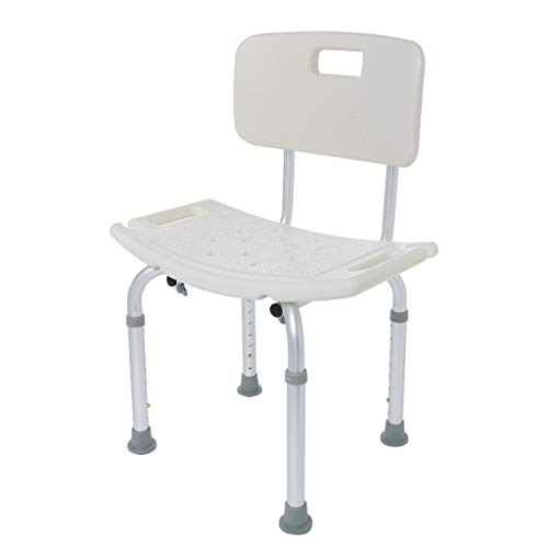 Heavy Duty Shower Chair with Back - Bathtub Chair with Arms for Handicap, Disabled, Seniors & Elderly - Adjustable Medical Bath Seat Handles - Non Slip Tub Safety
