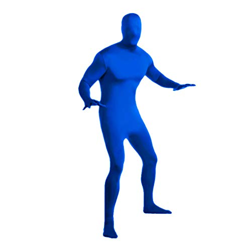 Halloween Invisibility Suit for Men, Tight Second-Piece Suit in Navy Blue