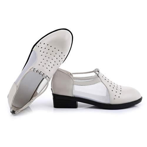 de pour en beige femmes à soirée cuir strass bottes respirantes talons Sandales IAgwx0x