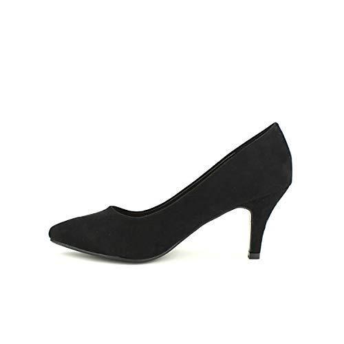 Cendriyon Noir Vivi Chaussures Quenn Simili Femme Peau Escarpin vv5wqrH