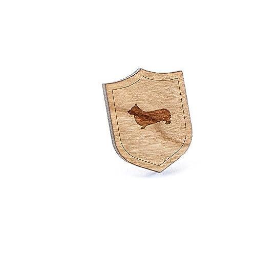 cheap Pembroke Welsh Corgi Lapel Pin, Wooden Pin