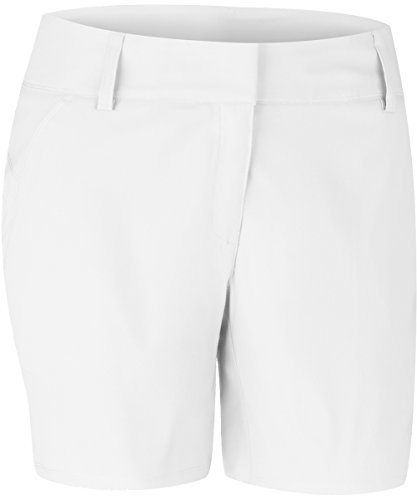 adidas Golf Women's Essentials Lightweight 7-Inch Shorts, White, 4