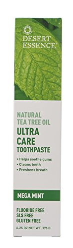 Desert Essence Ultra Care Mega Mint Toothpaste - 6.25 oz (Care Desert Toothpaste Dental Essence)